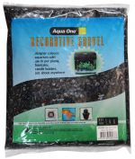 Aqua One Decorative Gravel 1kg Black 7mm