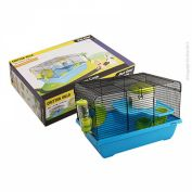 Pet One Critter Villa Mouse Wire Cage Blue & Green