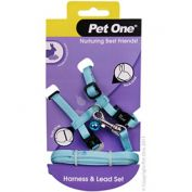 Pet One Rabbit Lead & Harness Set Aqua