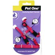 Pet One Rabbit Lead & Harness Set Pink