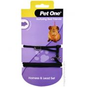 Pet One Guinea Pig Lead & Harness Set Black
