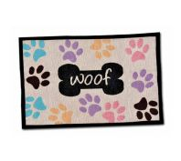 Loving Pets Woof & Paw Prints Dog Feeding Mat