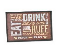 Loving Pets Eat Drink & Ruff Dog Feeding Mat