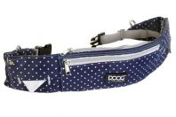 Doog Walkie Belt Blue Polka Dot & Silver trim