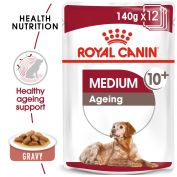 Royal Canin Canine Medium Ageing +10 Wet Dog Food 10x140g