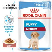 Royal Canin Canine Medium Puppy Wet Dog Food 10x140g