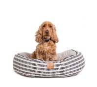 Mog & Bone 4 Seasons Circular Dog Bed Black Mosaic
