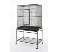 Bono Fido Cockatiel Bird Cage with Stand 46 x 46 x 130cm