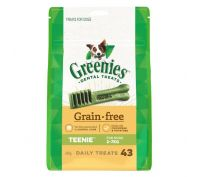 Greenies Dental Dog Treats Grain Free Teenie 340g