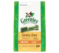 Greenies Dental Dog Treats Grain Free Petite 340g