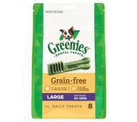 Greenies Dental Dog Treats Grain Free Large 340g
