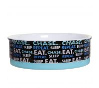 Doog Sleep Eat Chase Repeat Ceramic Dog Bowl Small