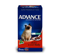 Advance Adult Cat 7x85g Chicken & Liver Medley