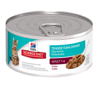 Hills Science Diet Cat Adult Tender Tuna Dinner 24 x 156G