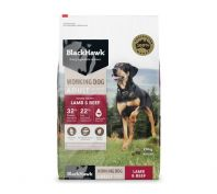 Black Hawk Adult Working Dog Lamb & Beef Dog Food 20kg