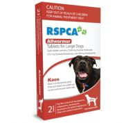 Rspca Dog Allwormer Large 40Kg 2 Pack