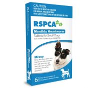 Rspca Monthly Heartwormer Small Dogs 6 Pack