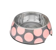FuzzYard Dog Bowl Bubblelicious Pink & Grey