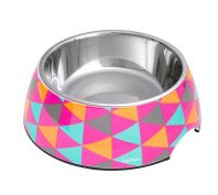 FuzzYard Dog Bowl Crush Multicolour Triangles Medium