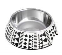 FuzzYard Cat Bowl Maya Black & White Aztec