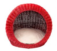 FuzzYard Cat Bed Java Pod Red