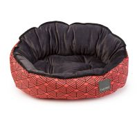 FuzzYard Florida Dog Bed Orange & Black Geometric