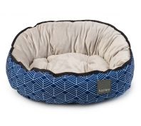 FuzzYard Hampton Dog Bed Blue & Grey Geometric