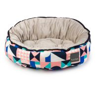 FuzzYard Yuwono Dog Bed Multicolour Geometric