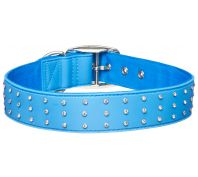 Gummi Bling Dog Collar Blue