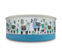 Indie Boho Alpaca Ceramic Dog Bowl