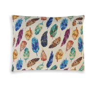 Indie Boho Feather Scatter Natural Cushion Pet Bed
