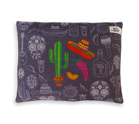 Indie Boho Mexican Skulls Reversible Cushion Pet Bed