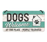 Nostalgic Art Dogs Welcome Metal Hanging Sign