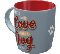 Nostalgic Art Love Dog Ceramic Mug