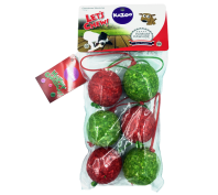 Kazoo Christmas Hanging Munchy Ball 6 Pack