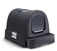 Curver Cat Hooded Litter Box Anthracite
