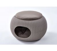 Curver Cozy Pet Home Dog Bed Beige