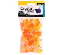 Aqua One Crystal Gems Acrylic Betta Gravel 145g 15mm Sunset
