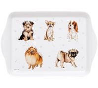 Ashdene Kennel Club Toy Breeds Scatter Serving Tray