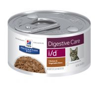 Hill's Prescription Diet i/d Digestive Health Support Chicken & Vegetable Stew Canned Cat Food 24x82g