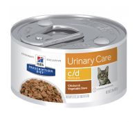 Hill's Prescription Diet c/d Multicare Urinary Care Chicken & Vegetable Stew Canned Cat Food 24x82g