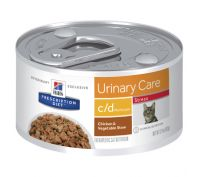 Hill's Prescription Diet c/d Multicare Stress Urinary Care Chicken & Vegetable Stew Canned Cat Food 24x82g