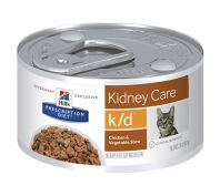 Hill's Prescription Diet k/d Kidney Care Chicken & Vegetable Stew Canned Cat Food 24x82g