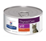 Hill's Prescription Diet y/d Thyroid Care Canned Cat Food 24x156g