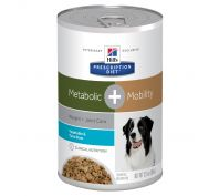 Hill's Prescription Diet Metabolic + Mobility Vegetable & Tuna Stew Canned Dog Food 12x354g