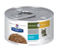 Hill's Prescription Diet Metabolic + Urinary Vegetable & Tuna Stew Canned Cat Food 24x82g