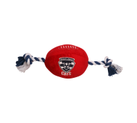AFL Dog Football Toy Geelong Cats