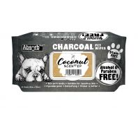 Absorb Plus Coconut Charcoal Pet Wipes 80 Pack