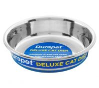 Durapet Deluxe Stainless Steel Cat Bowl