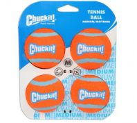 Chuckit Tennis Balls for Dogs Medium 4 Pack